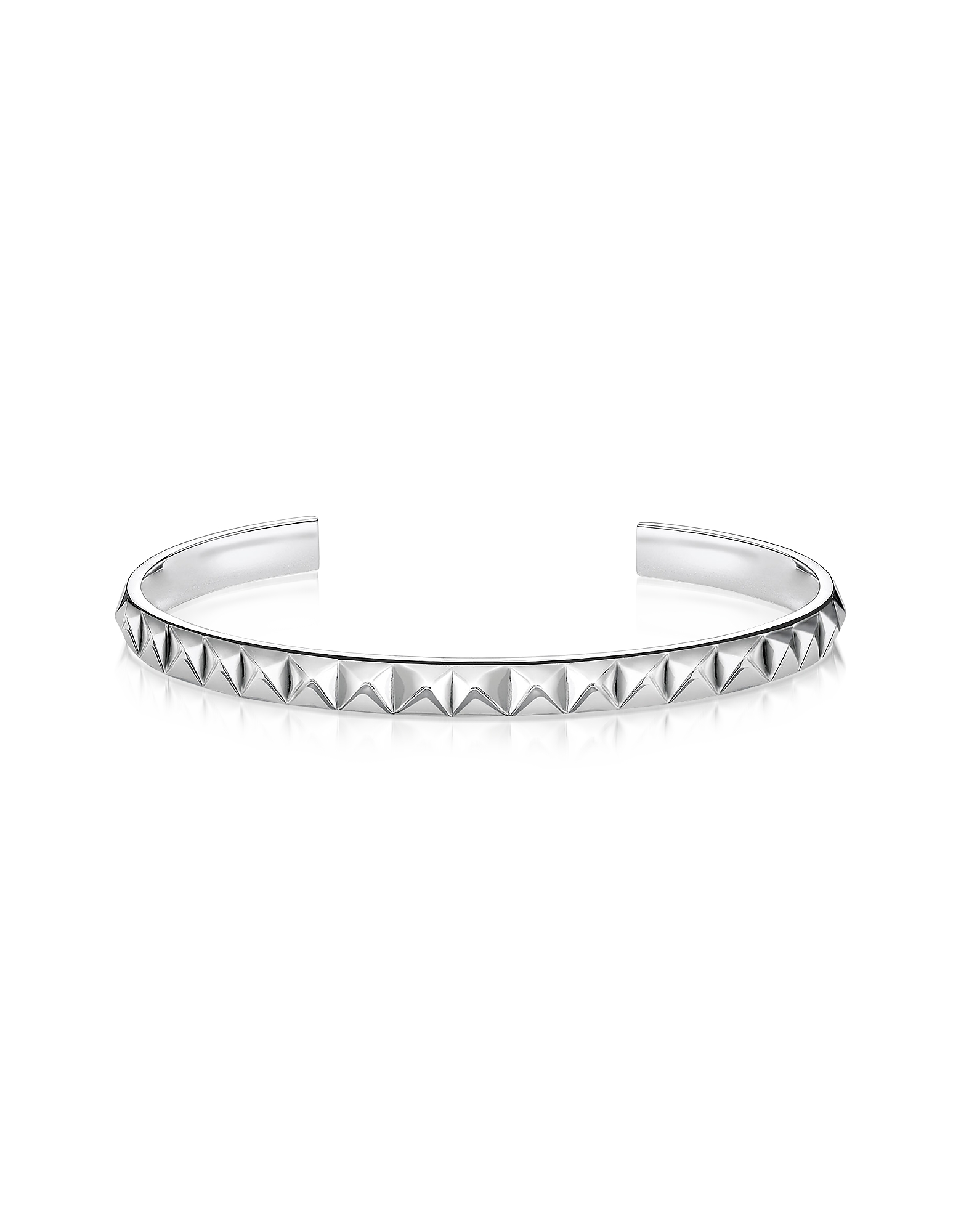Thomas Sabo Bracelets, Blackened Sterling Silver Pyramid Studs Bangle