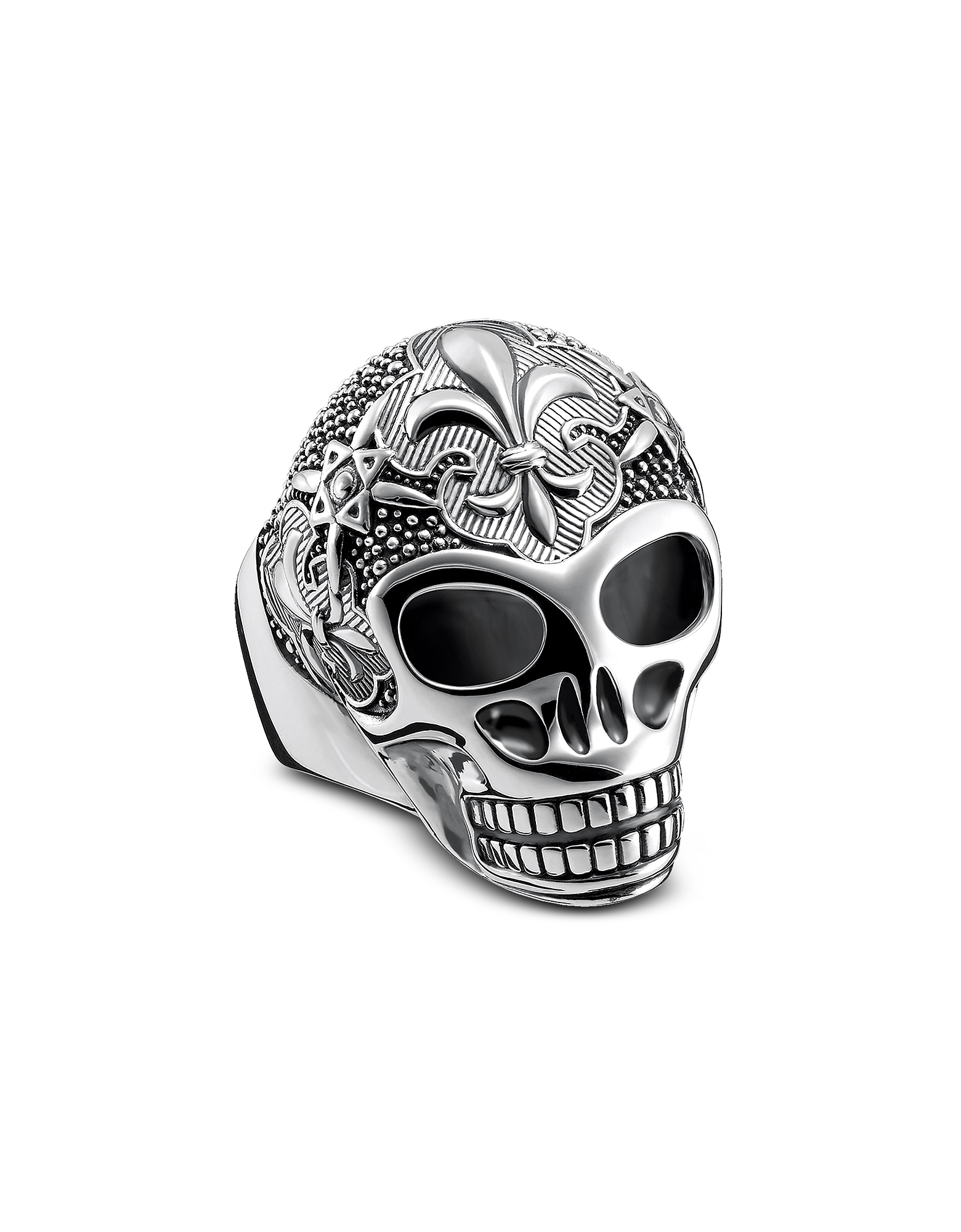 Thomas Sabo Men's Rings, Sterling Silver Lily Skull Ring