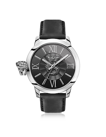 Rebel With Karma Silver Stainless Steel Men's
