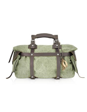 Tuscan's Canvas and Leather Satchel Bag