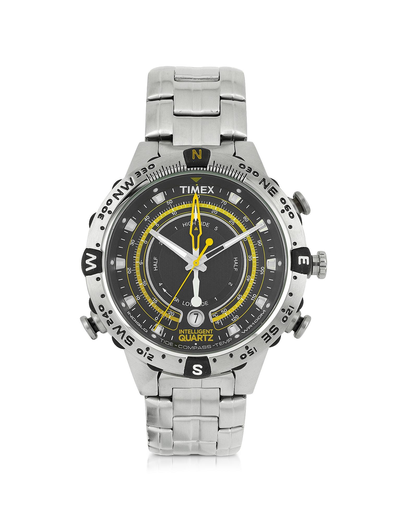 Tide Temp Compass - Мужские Серебристые Часы из Нержавеющей Стали
