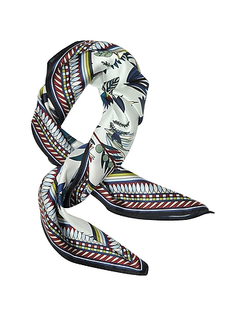 Eșarfă de damă TORY BURCH Utopia, fashion, din matase, cu imprimeu