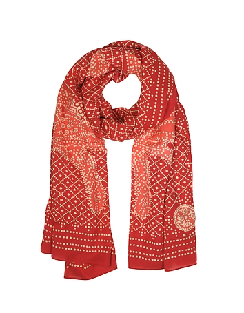 Eșarfă de damă TORY BURCH Red Crab