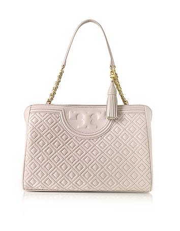 Fleming Quilted Leather Open Shoulder Bag