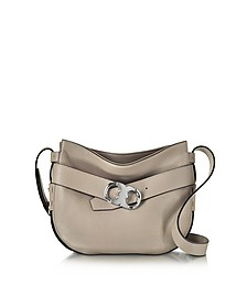 Gemini Link Belted French Gray Leather Small Hobo - Tory Burch