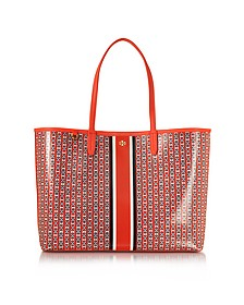 Samba Gemini Link Stripe Canvas Tote bag - Tory Burch