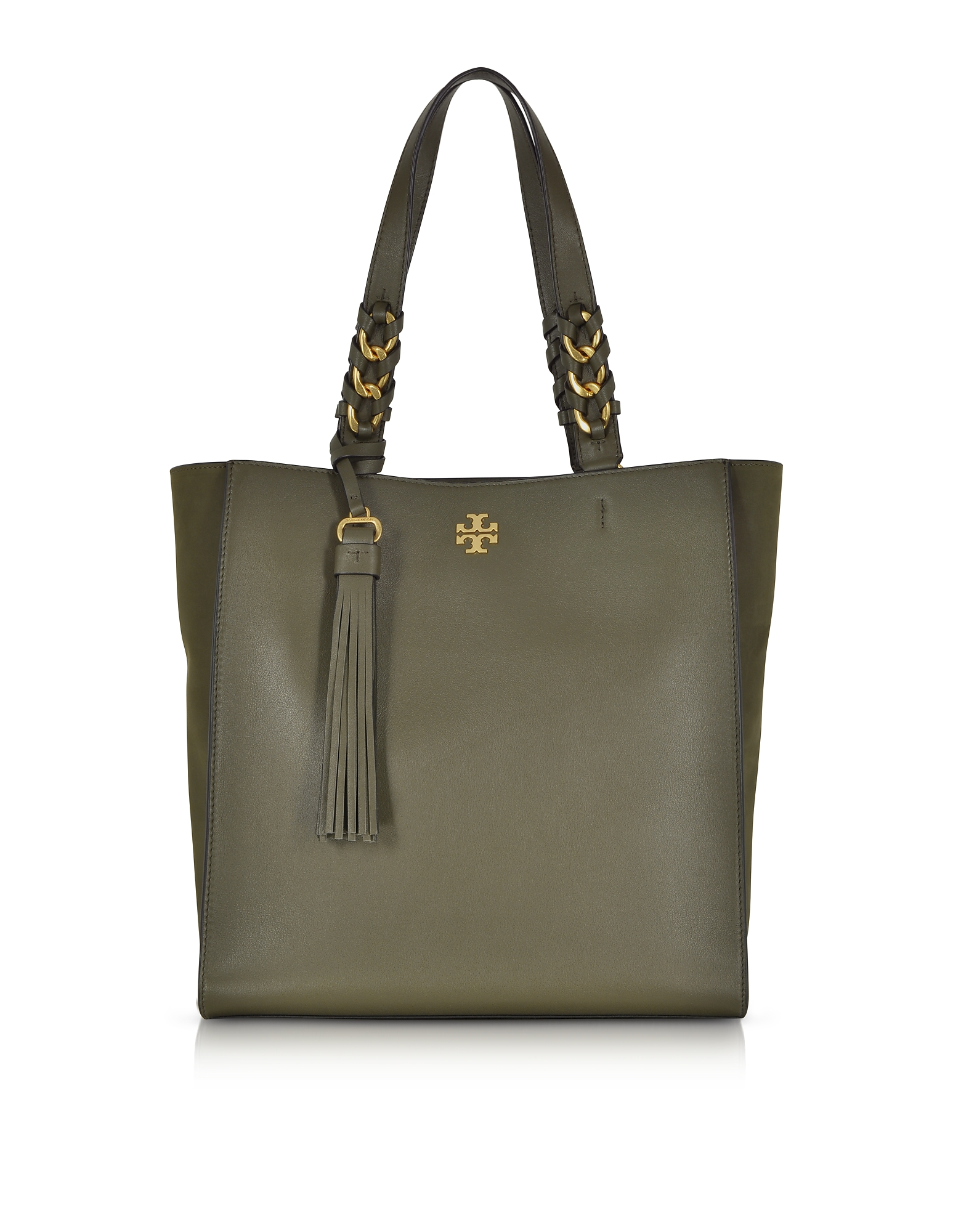 Tory Burch Handbags, Brooke Leccio Leather Tote Bag w/Suede Trims