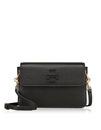 McGraw Black Pebbled Leather Crossbody Bag ty130118-019-00
