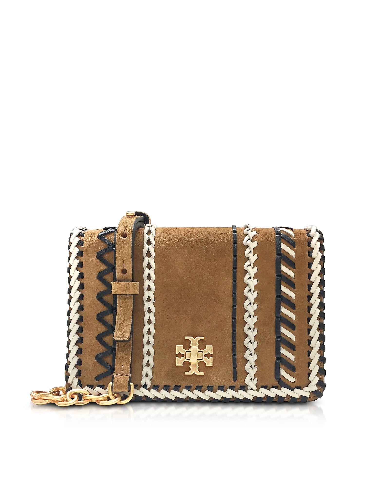 Tory Burch Handbags, Kira Whipstitch Hazel Suede Mini Crossbody Bag