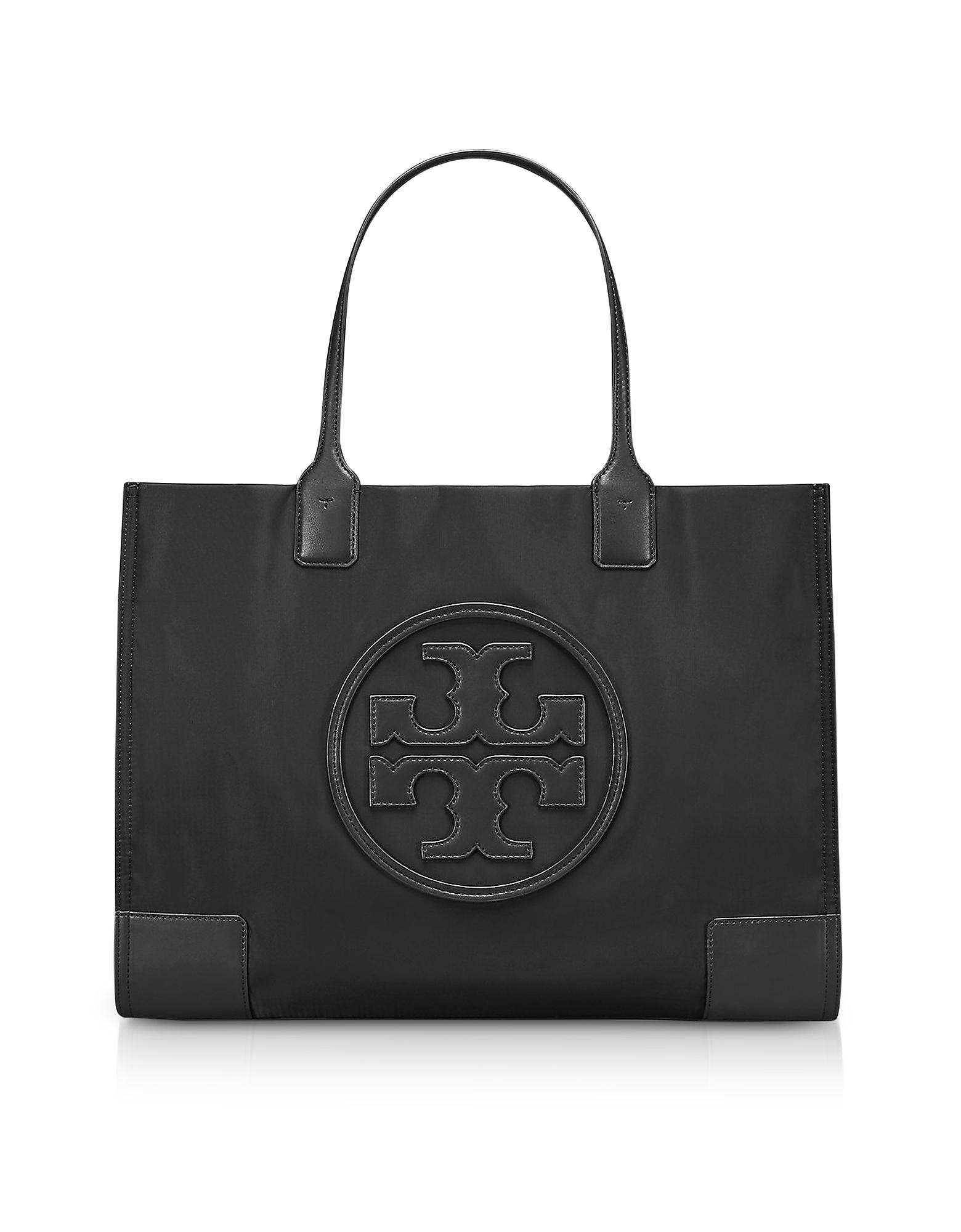Black Nylon Ella Tote Bag