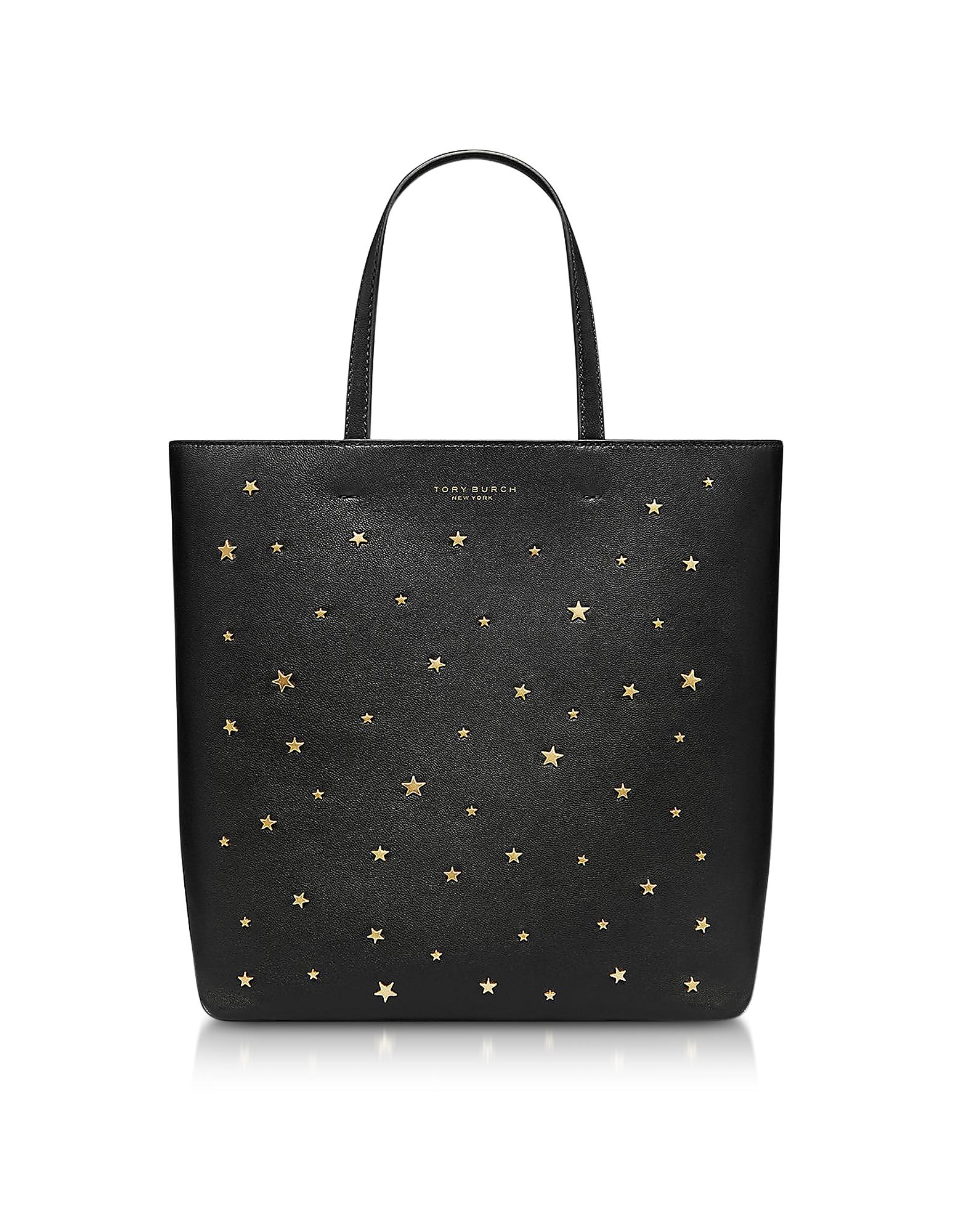 Black Star Studs Small Tote Bag