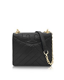 Alexa Convertible Black Leather Shoulder Bag - Tory Burch