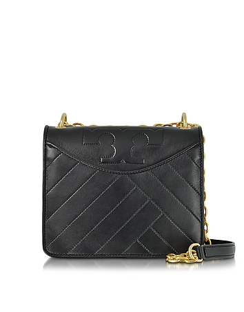 Tory Burch - Alexa Convertible Black Leather Shoulder Bag