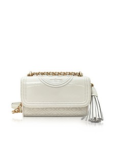 Fleming Patent New Ivory Micro Shoulder Bag - Tory Burch