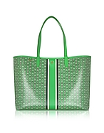 Tory Burch Shopping bag in Canvas Verde con Logo Gemini Link - tory burch - it.forzieri.com