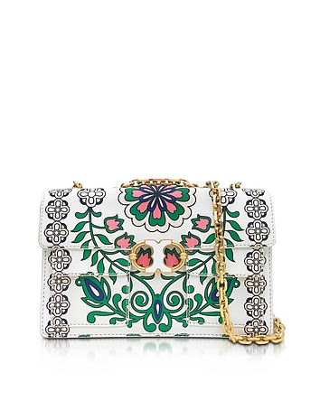 Tory Burch - Gemini Link Garden Party Printed Leather Chain Shoulder Bag