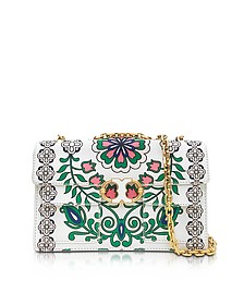 Gemini Link Garden Party Printed Leather Chain Shoulder Bag - Tory Burch
