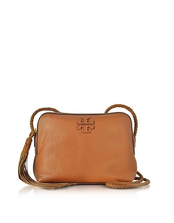 Tory Burch - Taylor Saddle Pebble Leather Camera Bag