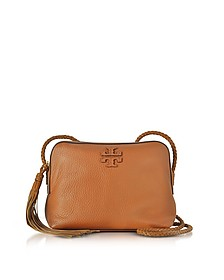 Taylor Saddle Pebble Leather Camera Bag - Tory Burch