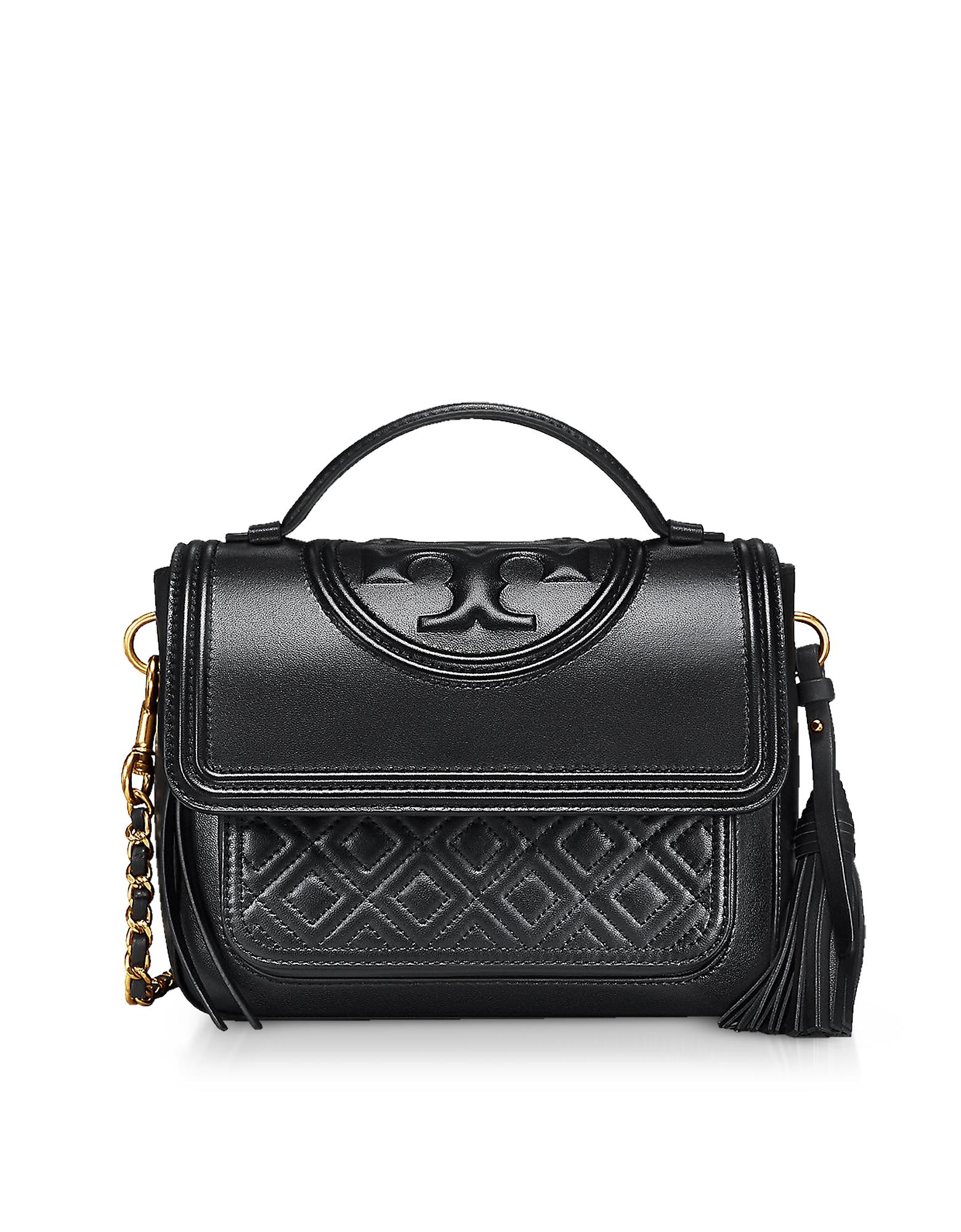 Fleming Leather Satchel Bag w/Shoulder Strap