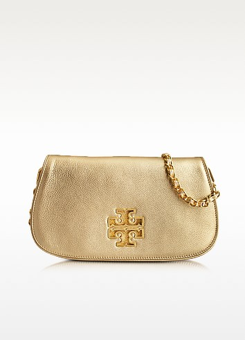 Britten Clutch in gold - Tory Burch
