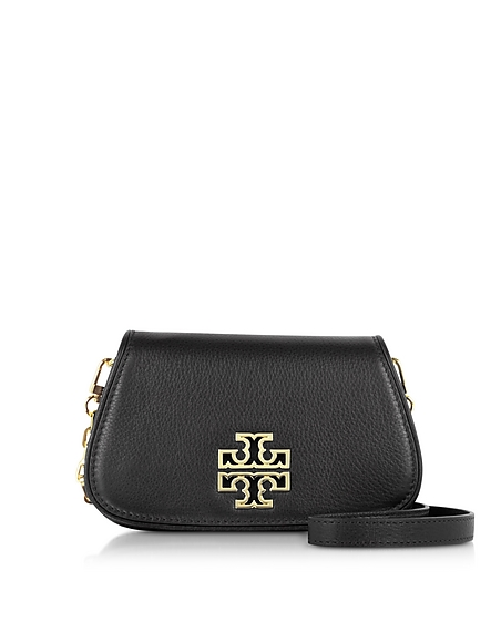 Foto Tory Burch Britten Mini Clutch in Pelle con Tracolla Borse donna