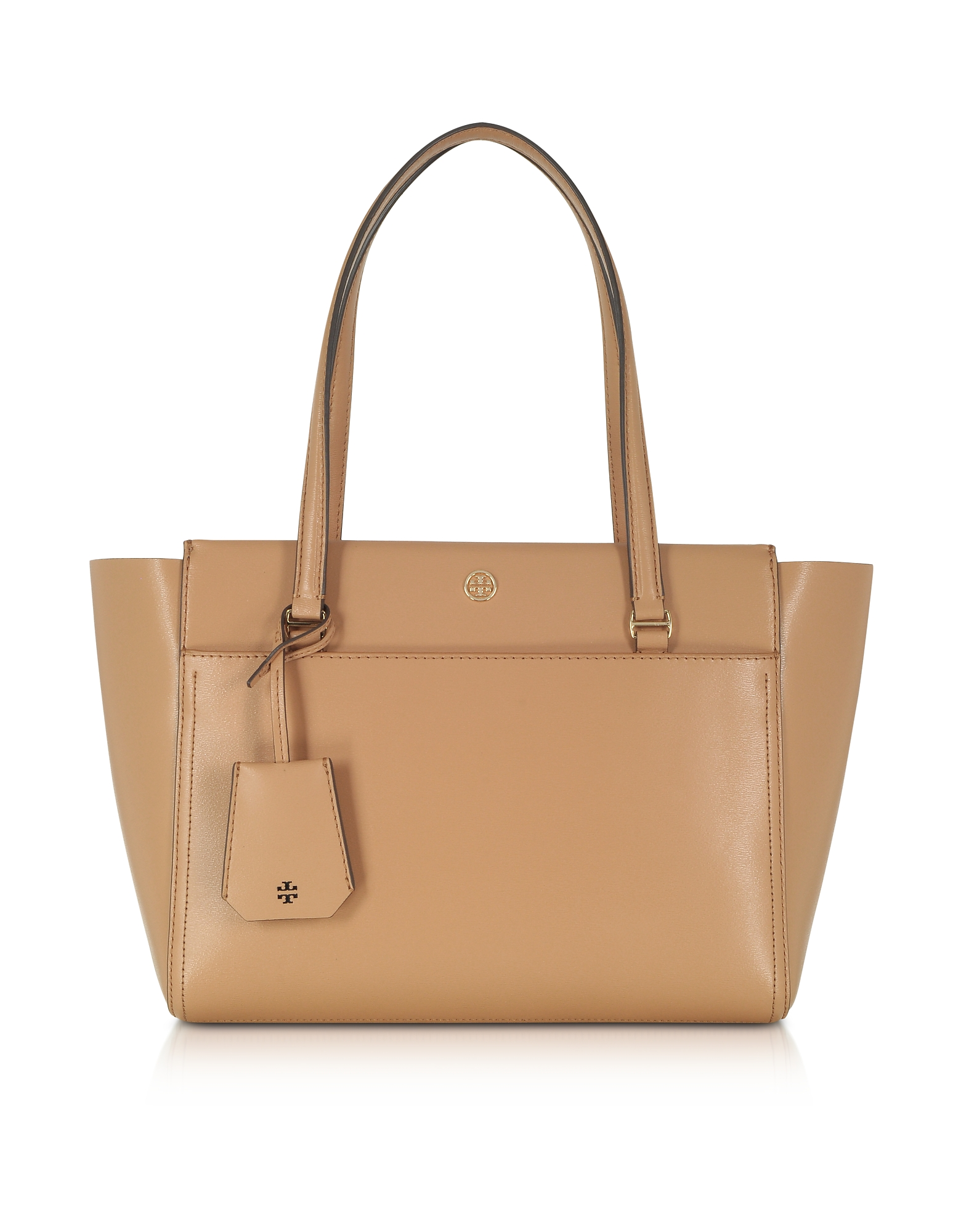 Tory Burch Handbags, Parker Cardamom Leather Small Tote Bag