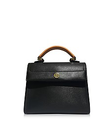 Parker Color Block Leather Small Satchel Bag - Tory Burch