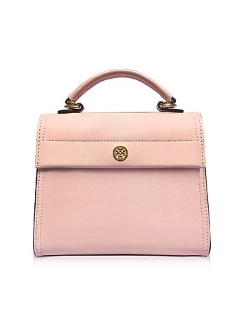 Tory Burch - Parker Pink Quartz Leather Small Satchel Bag