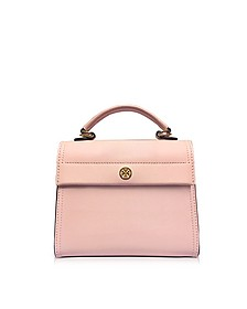 Parker Pink Quartz Leather Small Satchel Bag - Tory Burch