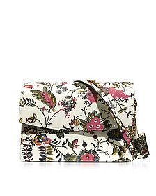 Parker Gabriella Floral Print Leather Large Shoulder Bag - Tory Burch