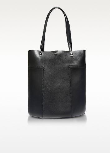 Block-T Leather Medium Tote - Tory Burch