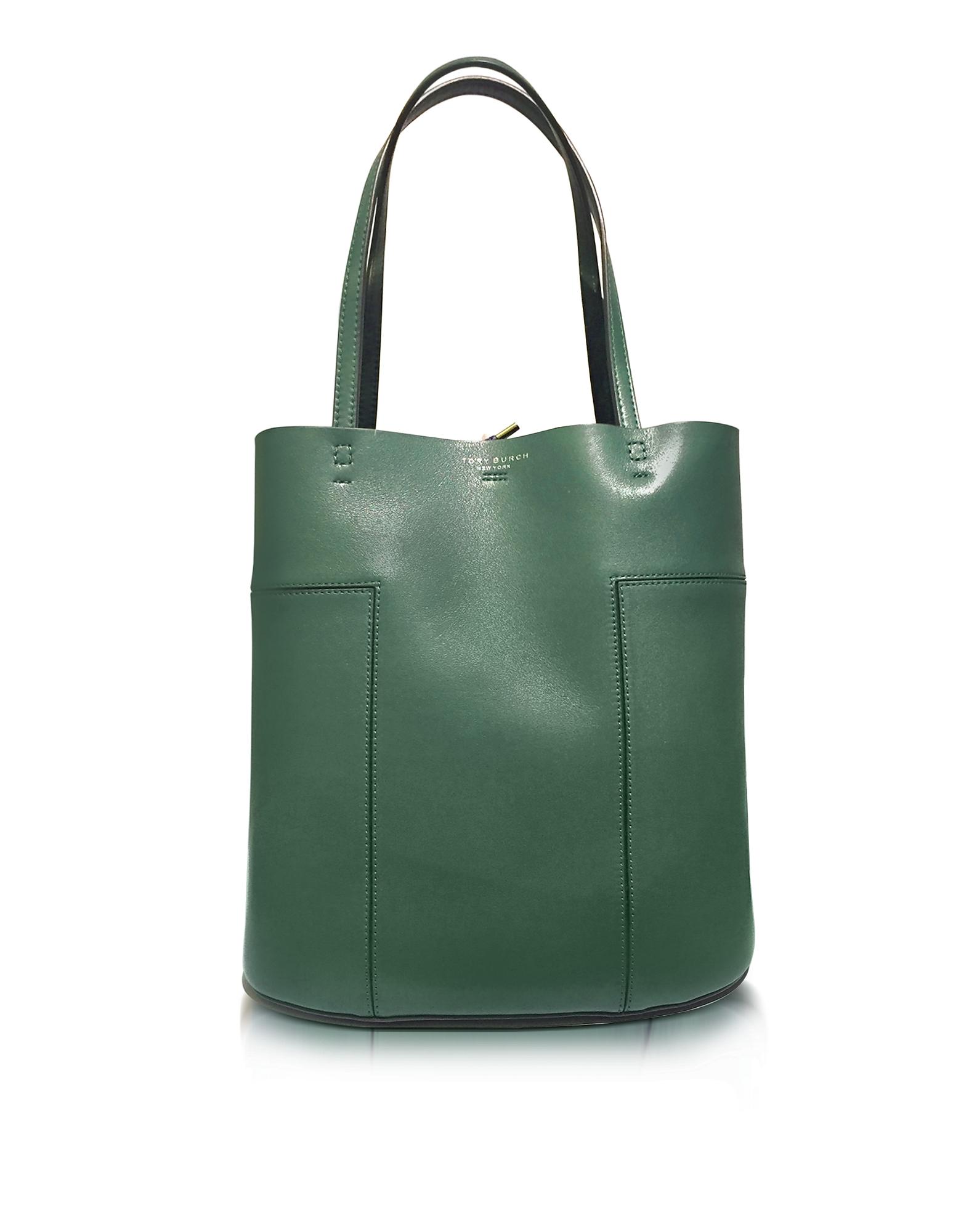 Tory Burch Handbags, Block-T Leather Medium Tote