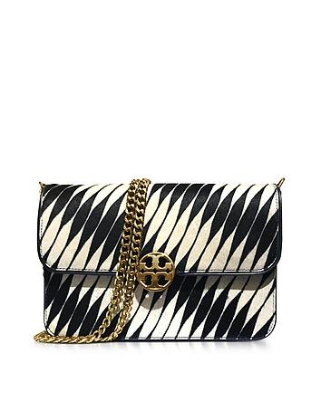 Tory Burch - Chelsea Twisted Stripe Calf Hair Shoulder Bag