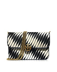 Chelsea Twisted Stripe Calf Hair Shoulder Bag - Tory Burch