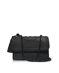 Fleming Black Matte Small Convertible Shoulder Bag - Tory Burch