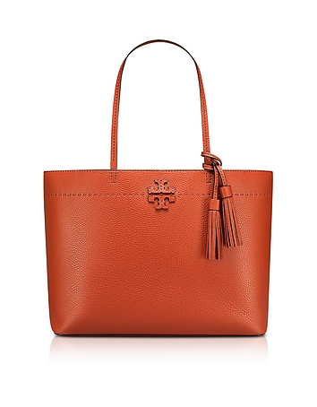 McGraw Desert Spice Textured Leather Tote Bag ty130318-037-00