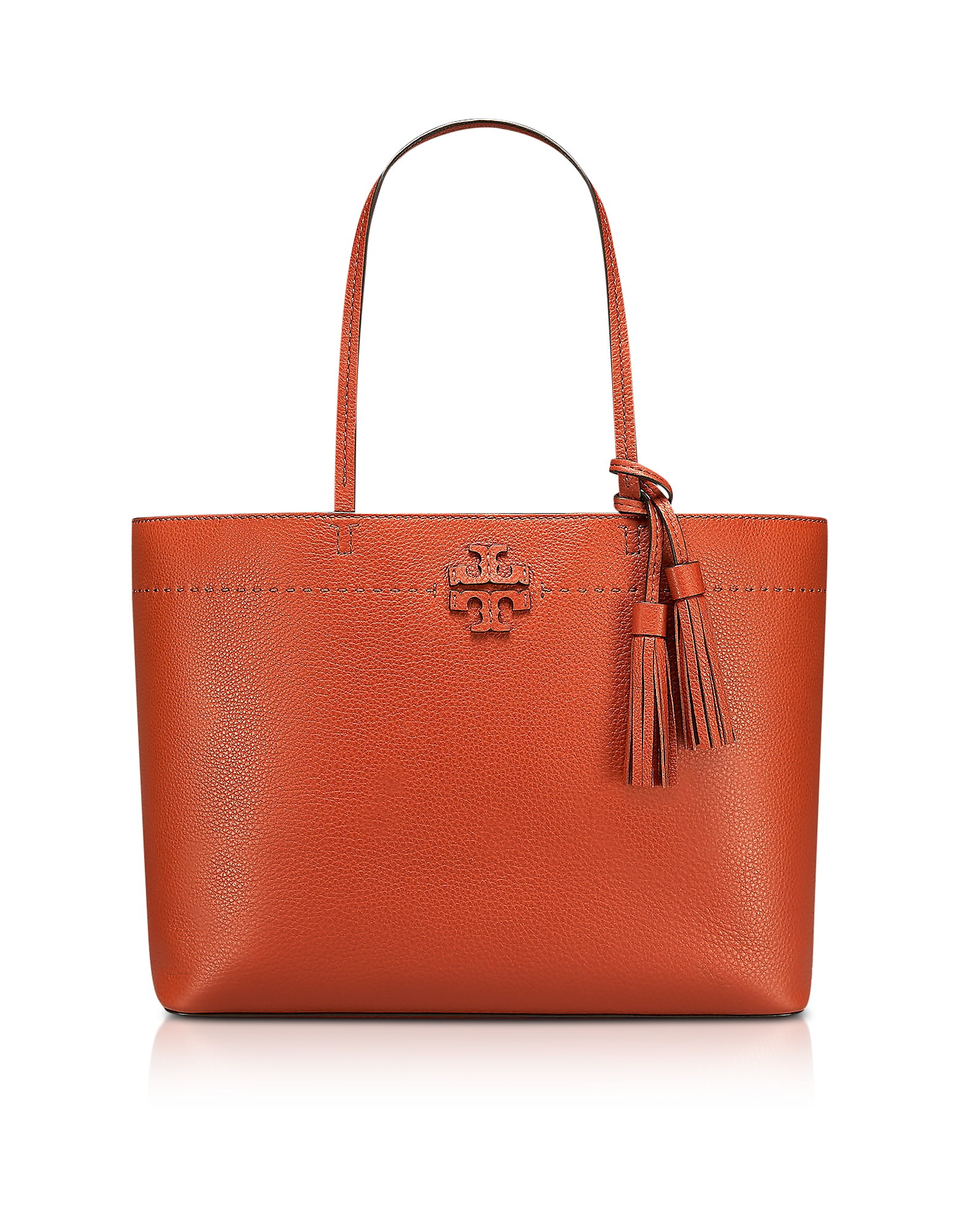 MCGRAW DESERT SPICE TEXTURED LEATHER TOTE BAG