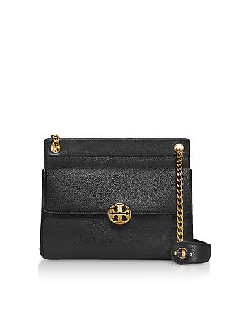 Pebbled Leather Chelsea Flap Shoulder Bag ty130318-051-00