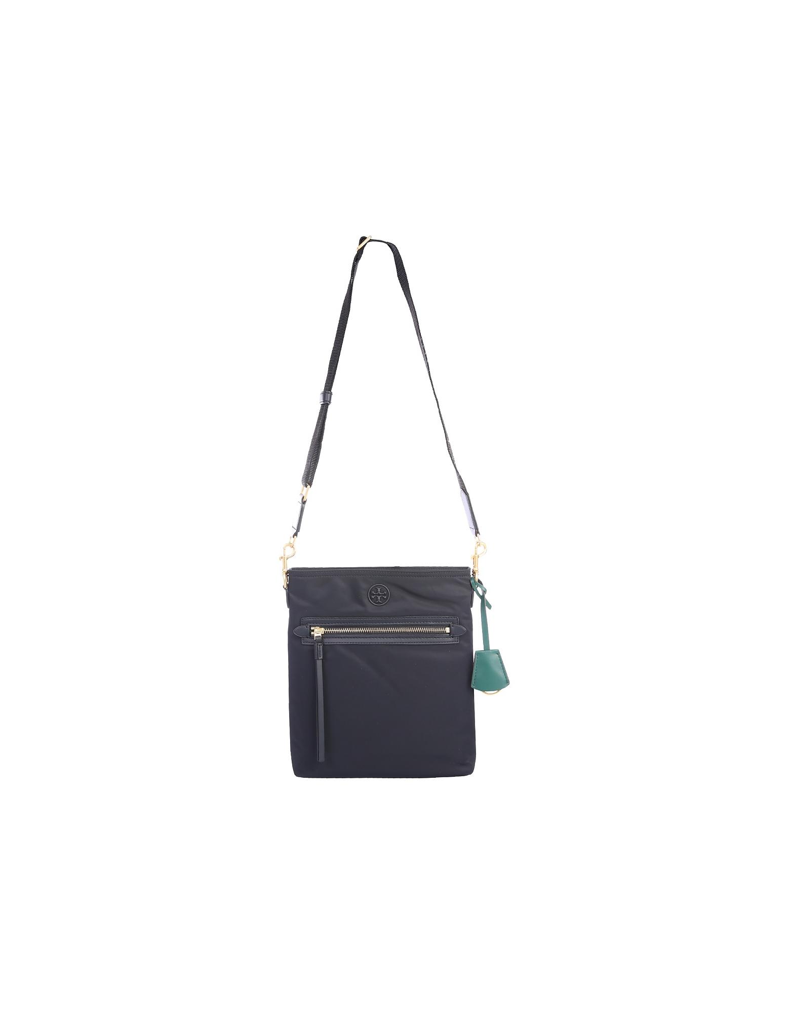 Tory Burch Designer Handbags, Perry Black Nylon Crossbody Bag