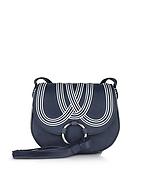Tory Burch Tassel Borsa con Tracolla in Pelle Blu e Maxi Nappine - tory burch - it.forzieri.com