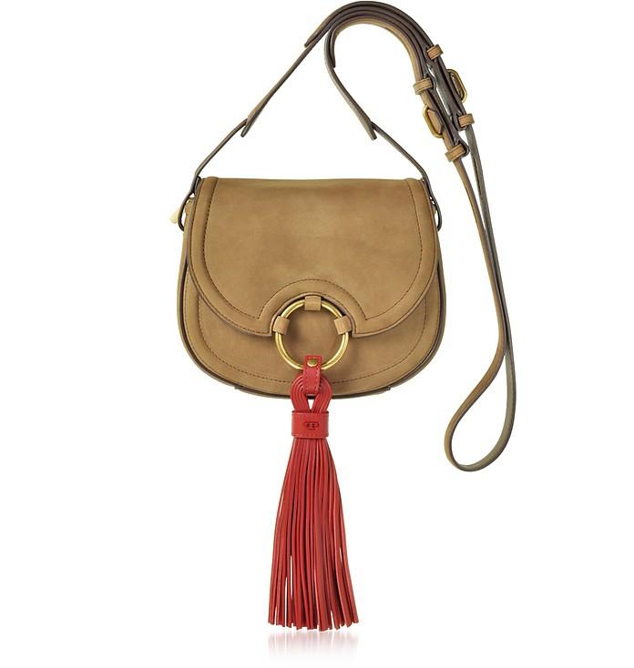 Tassel River Rock Mini Saddle Bag - Tory Burch