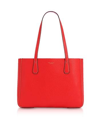 Tory Burch Phoebe Pebbled Leather Mini Tote Bag