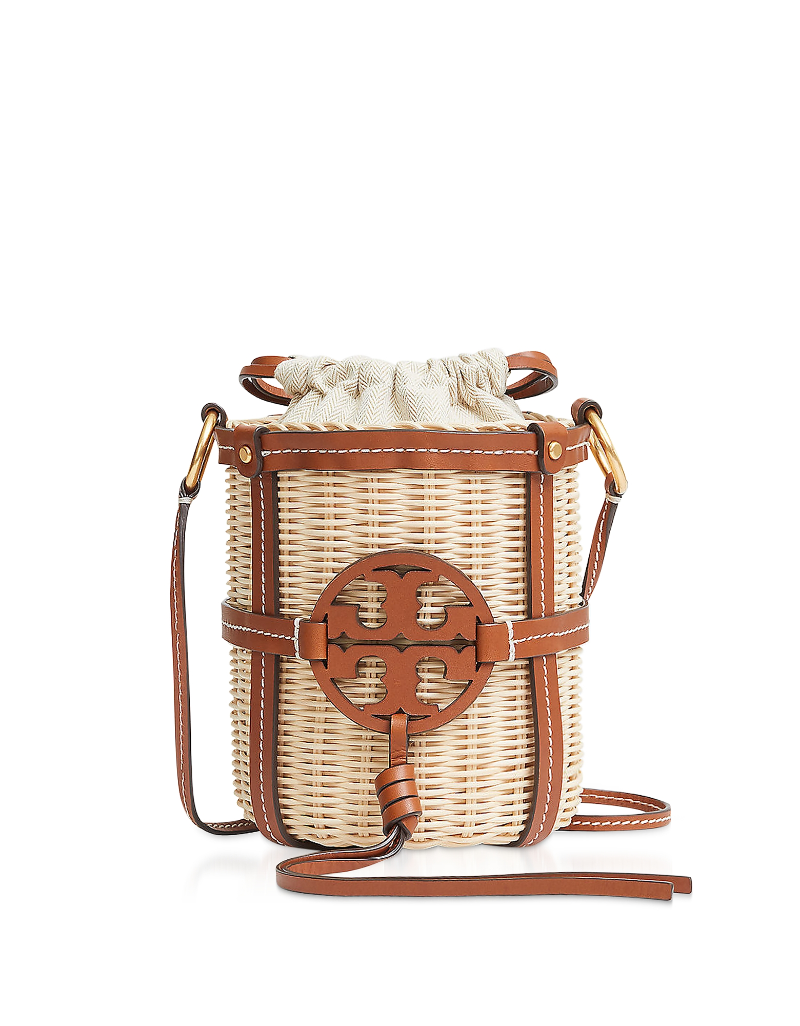 Tory Burch Designer Handbags, Miller Wicker Bucket Bag