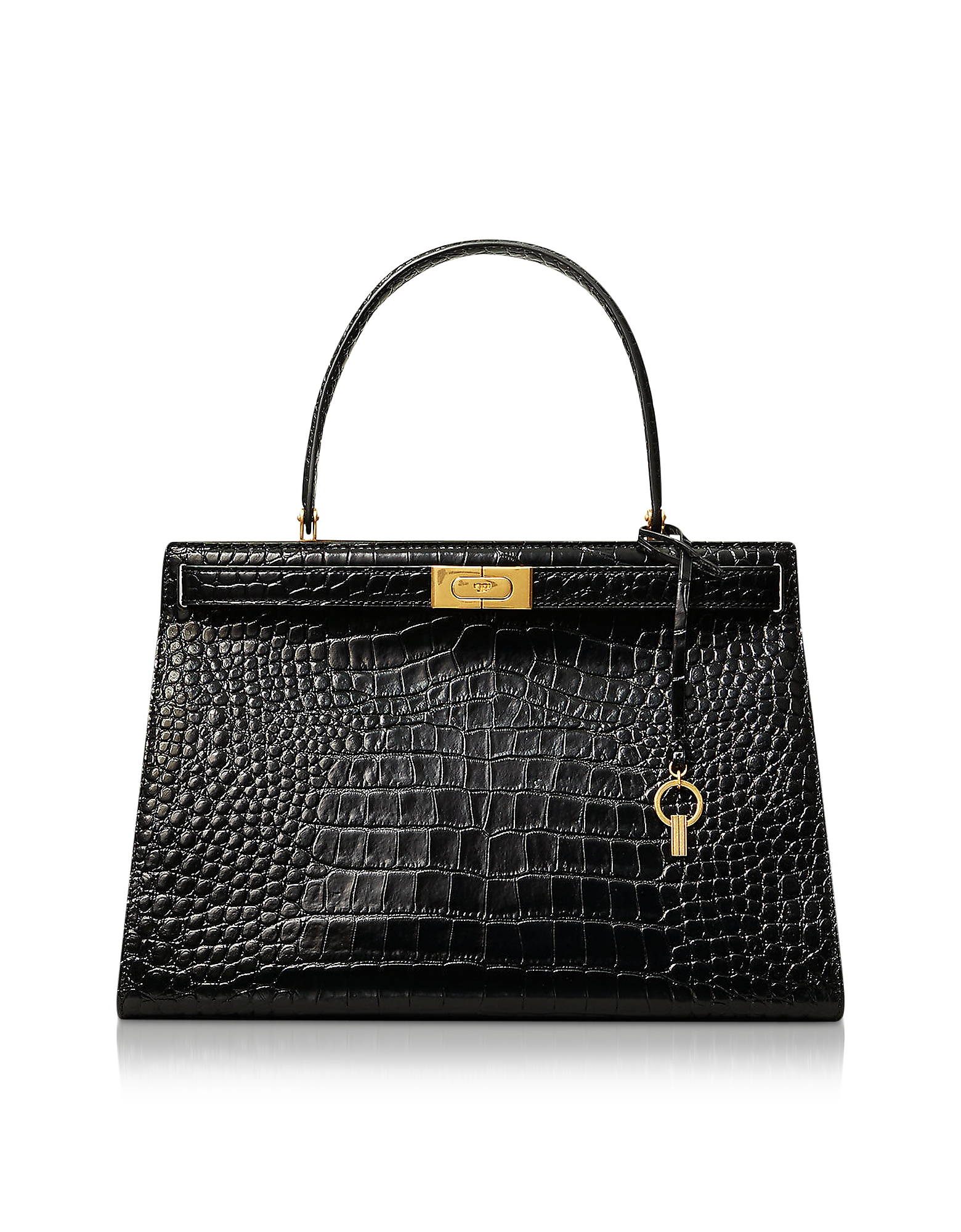 Black Lee Radziwill Top Handle Bag
