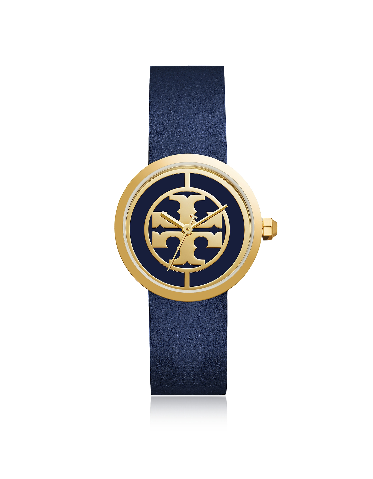 Tory Burch Women's Watches, TBW4021 The Reva Blue Leather Women's Watch