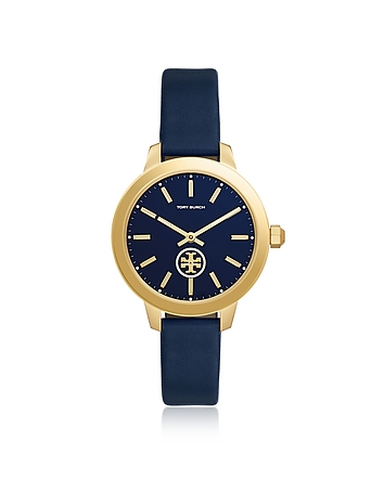 Tory Burch TBW1203 The Collins Blue Leather Women's Watch