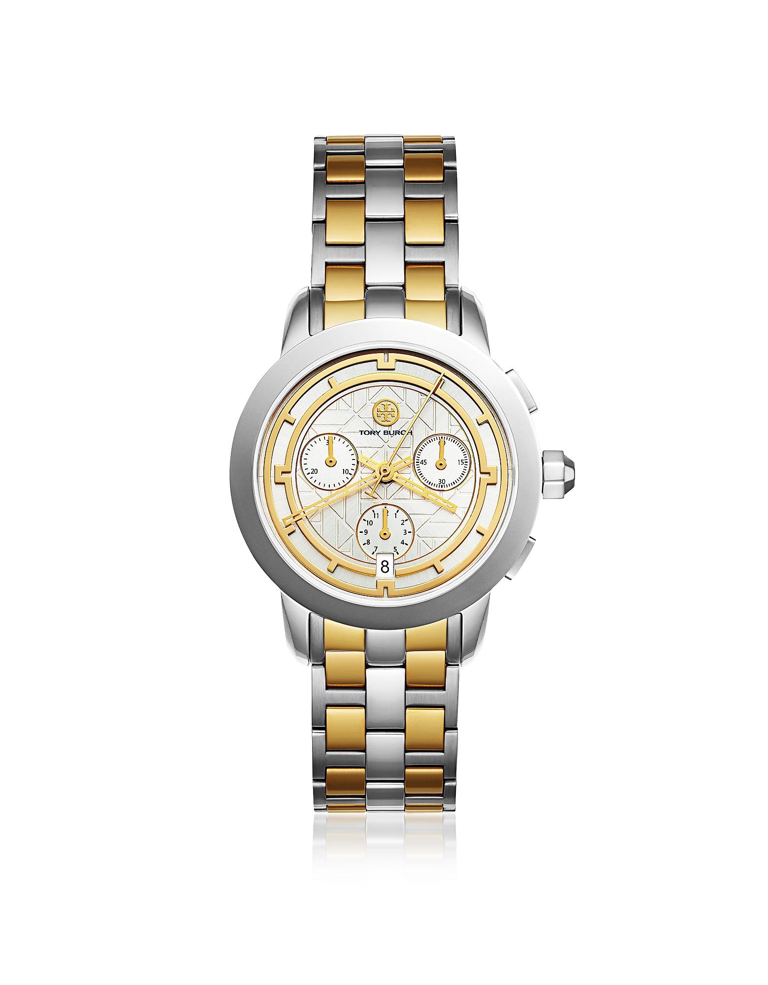 Tory Burch Women's Watches, TBW1034 The Tory Two Tone Chronograph Women's Watch