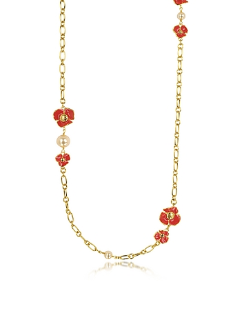 Tory Burch - Fleur Rosary Long Necklace