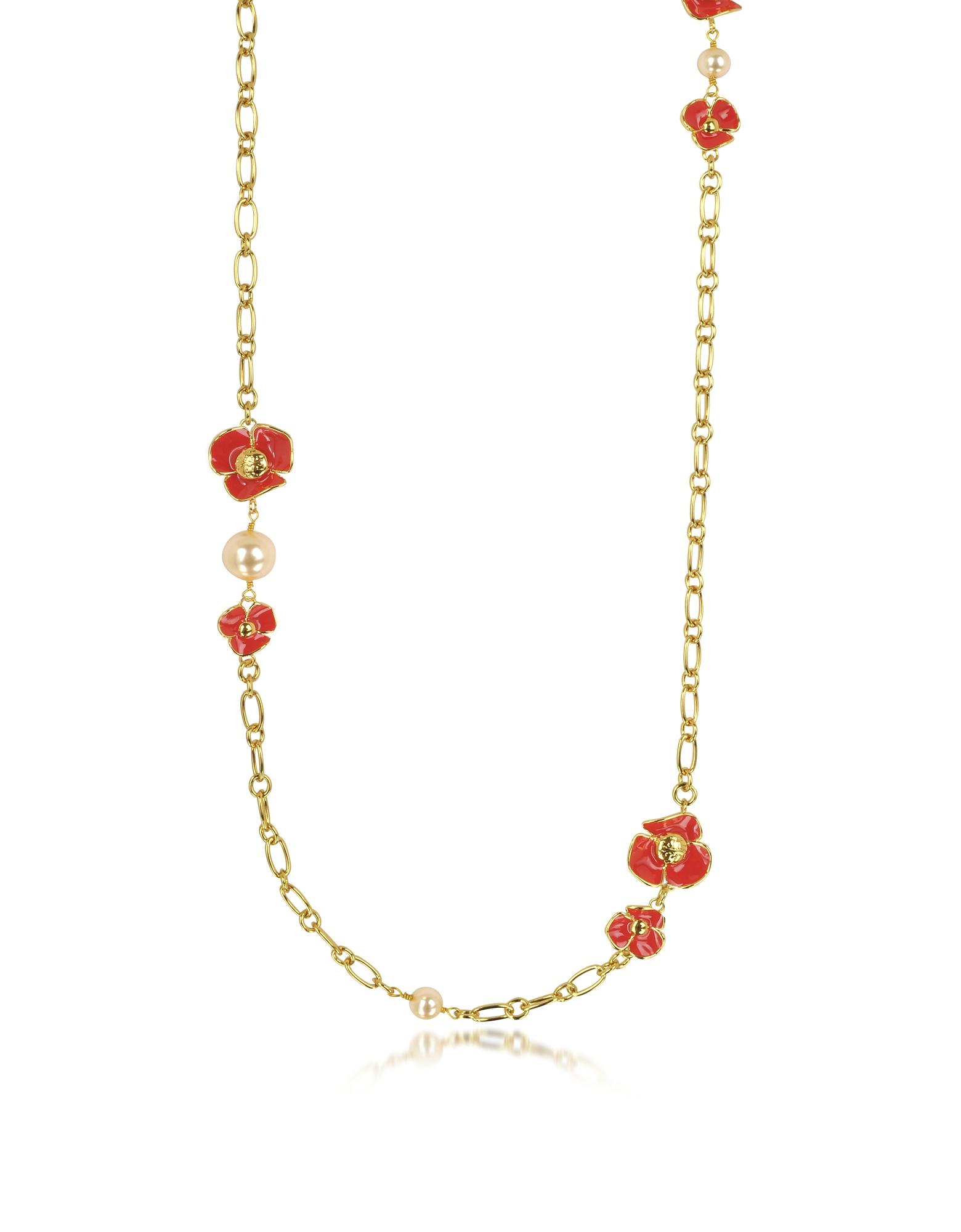Fleur Rosary - Длинное Ожерелье